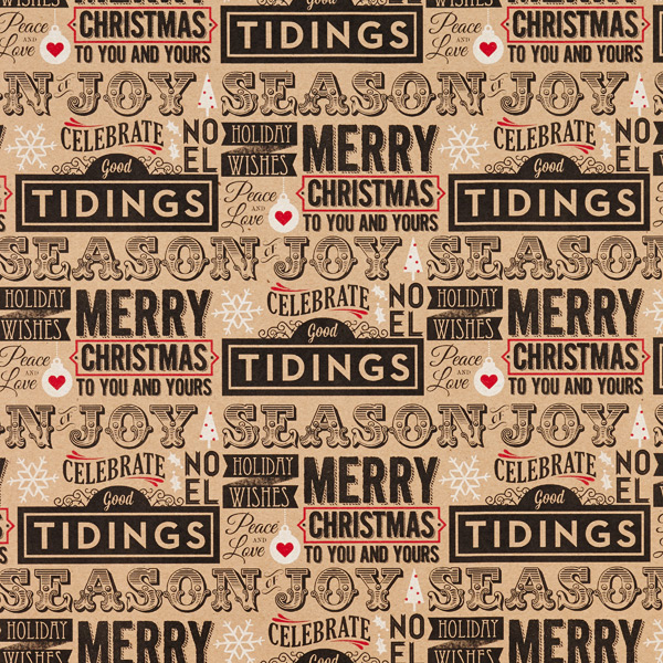 Holiday Headline Recycled Wrap