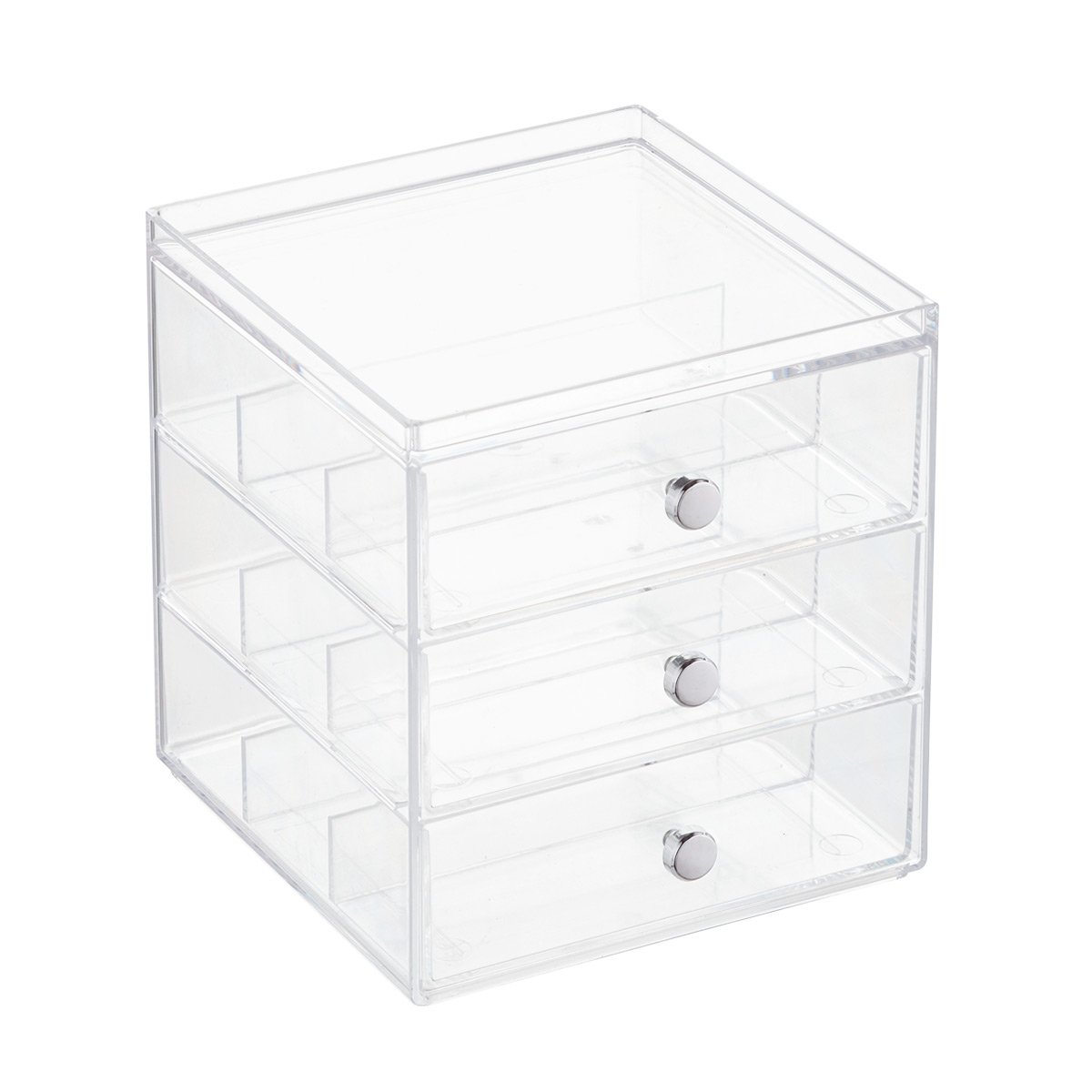 3-Drawer Divided Stacking Box