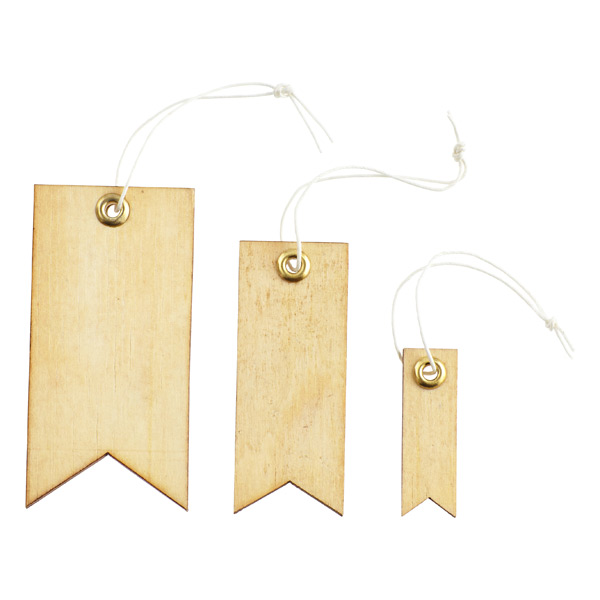 Natural Wood Tag Labels