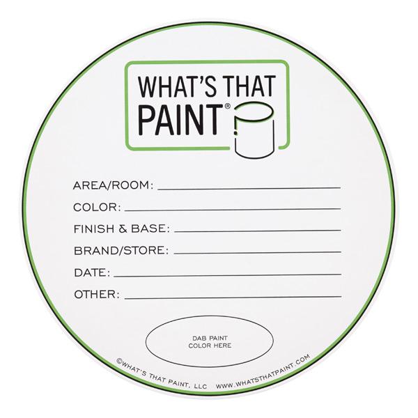What's That Paint^ Labels
