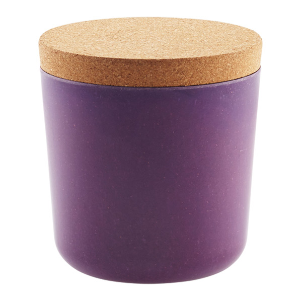 Bamboo Jar with Cork Lid