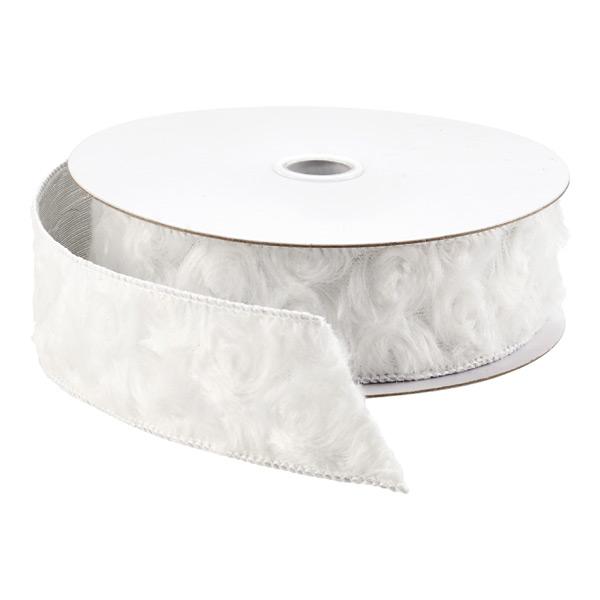 Ribbon Wired Faux Fur Swirl