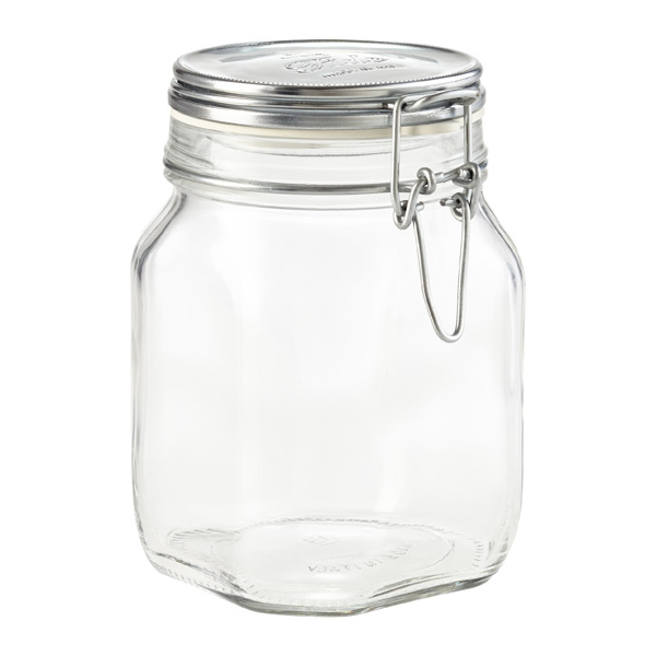 Glass Hermetic Jar Silver
