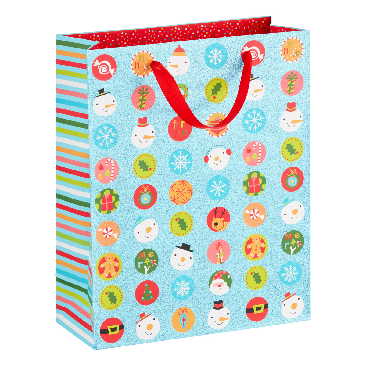Tote Glittered Holiday Icon