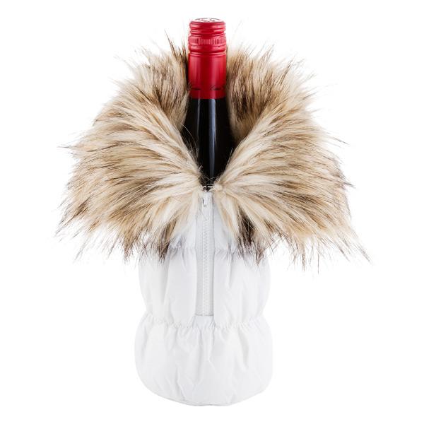 Bottle Parka with Fur Cuff