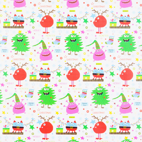 Wrap Merry Christmas Monsters