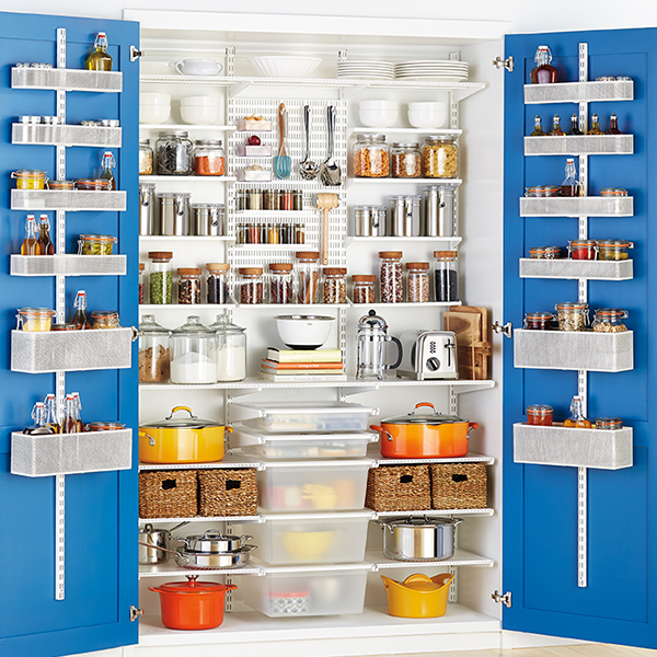 Kitchen organizing pantry organizing for Best pantry shelving system
