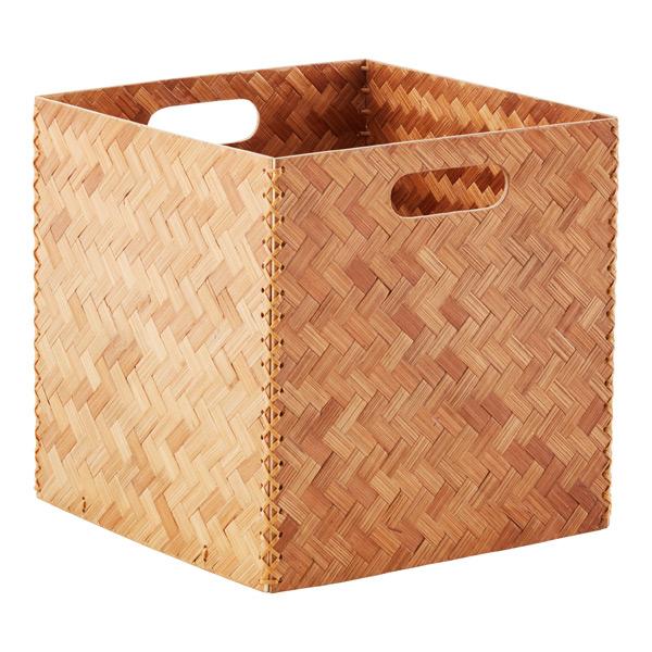 Herringbone Bamboo Cube