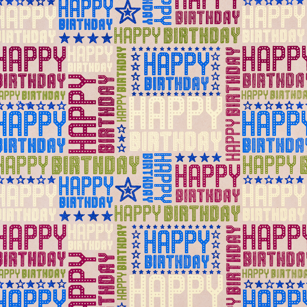 Wrap Kraft Happy Birthday