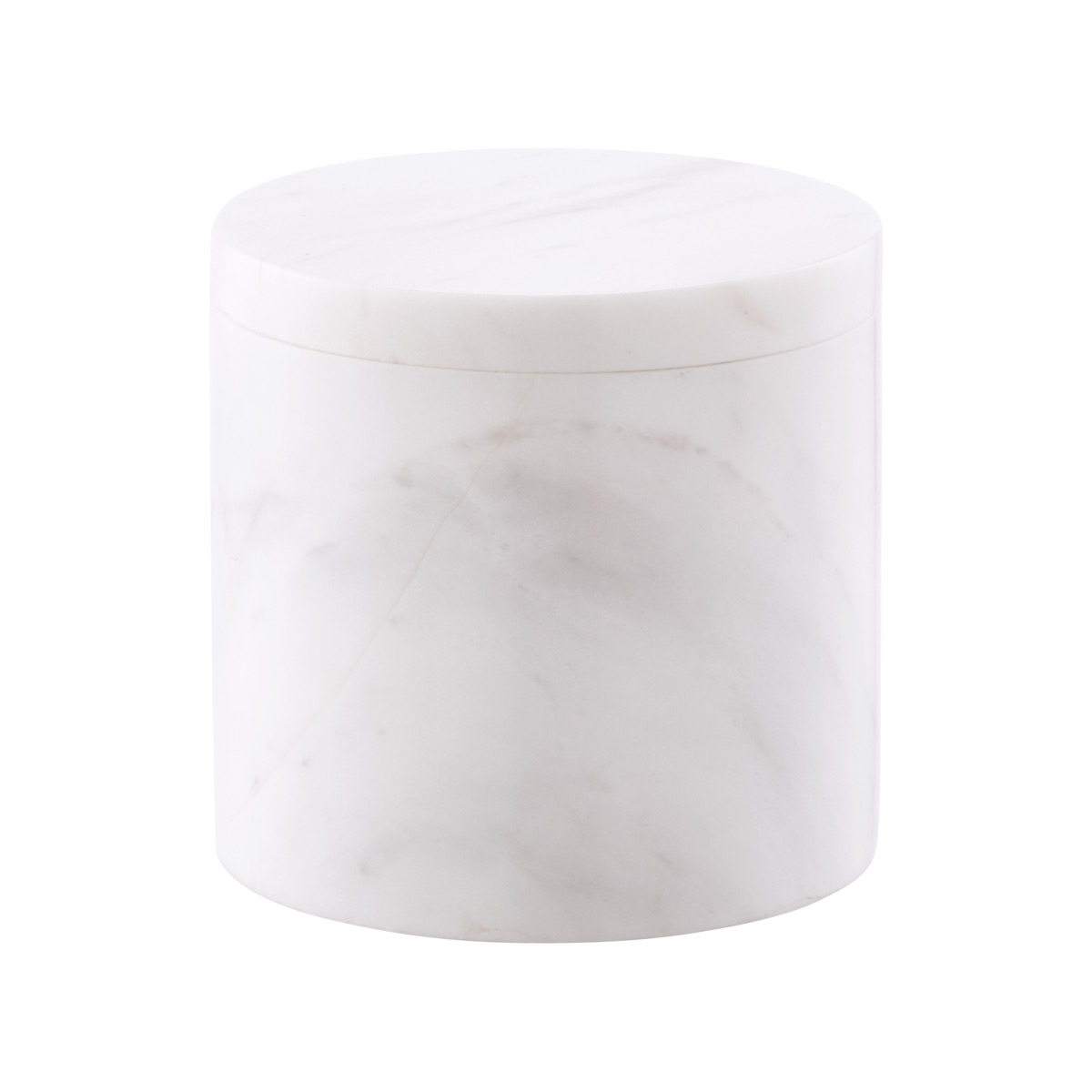 Round Marble Canister