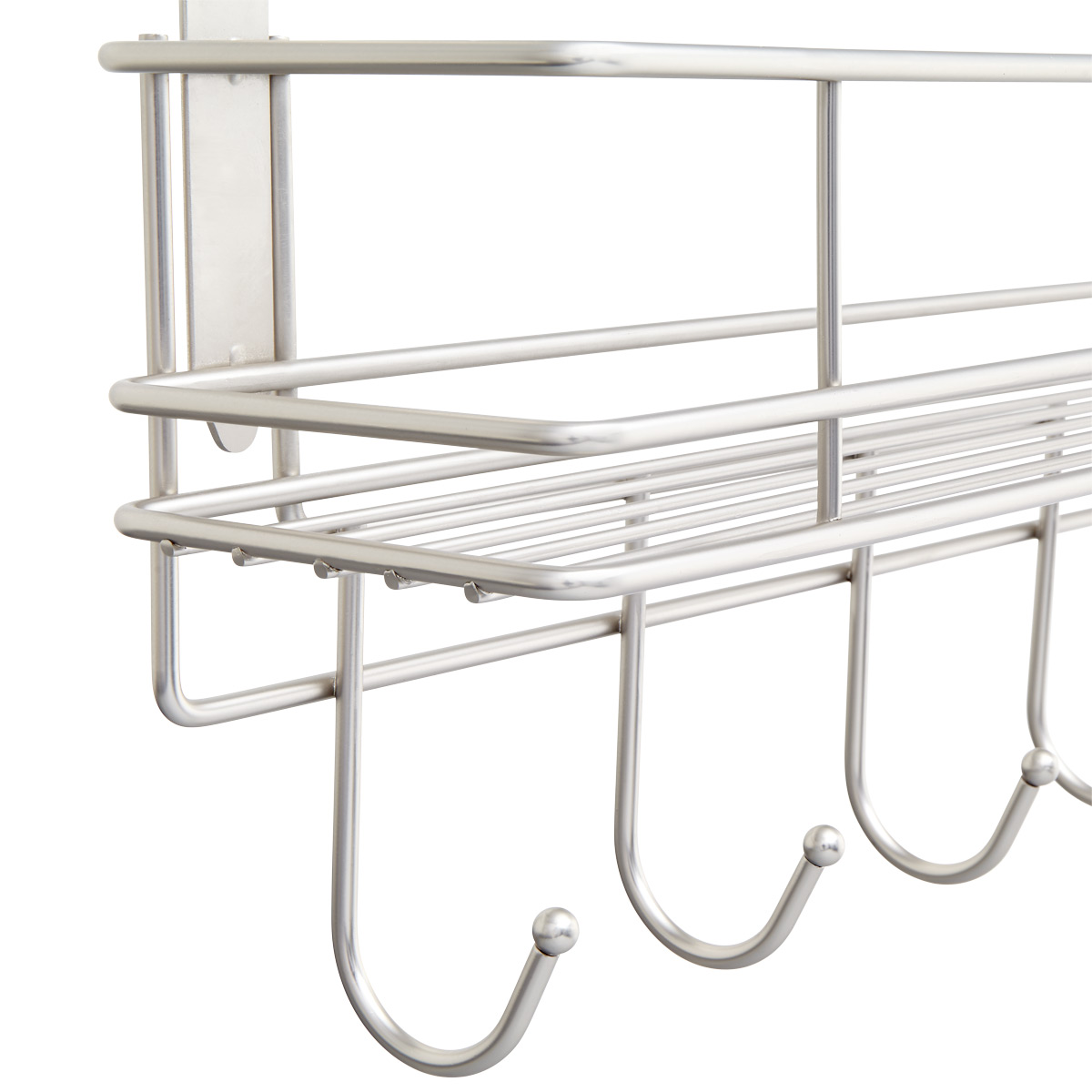 OTD 5 Hook Rack with Basket