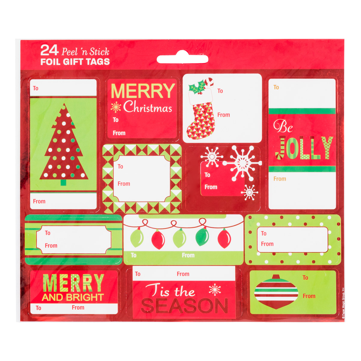 Merry & Bright Foil Gift Labels