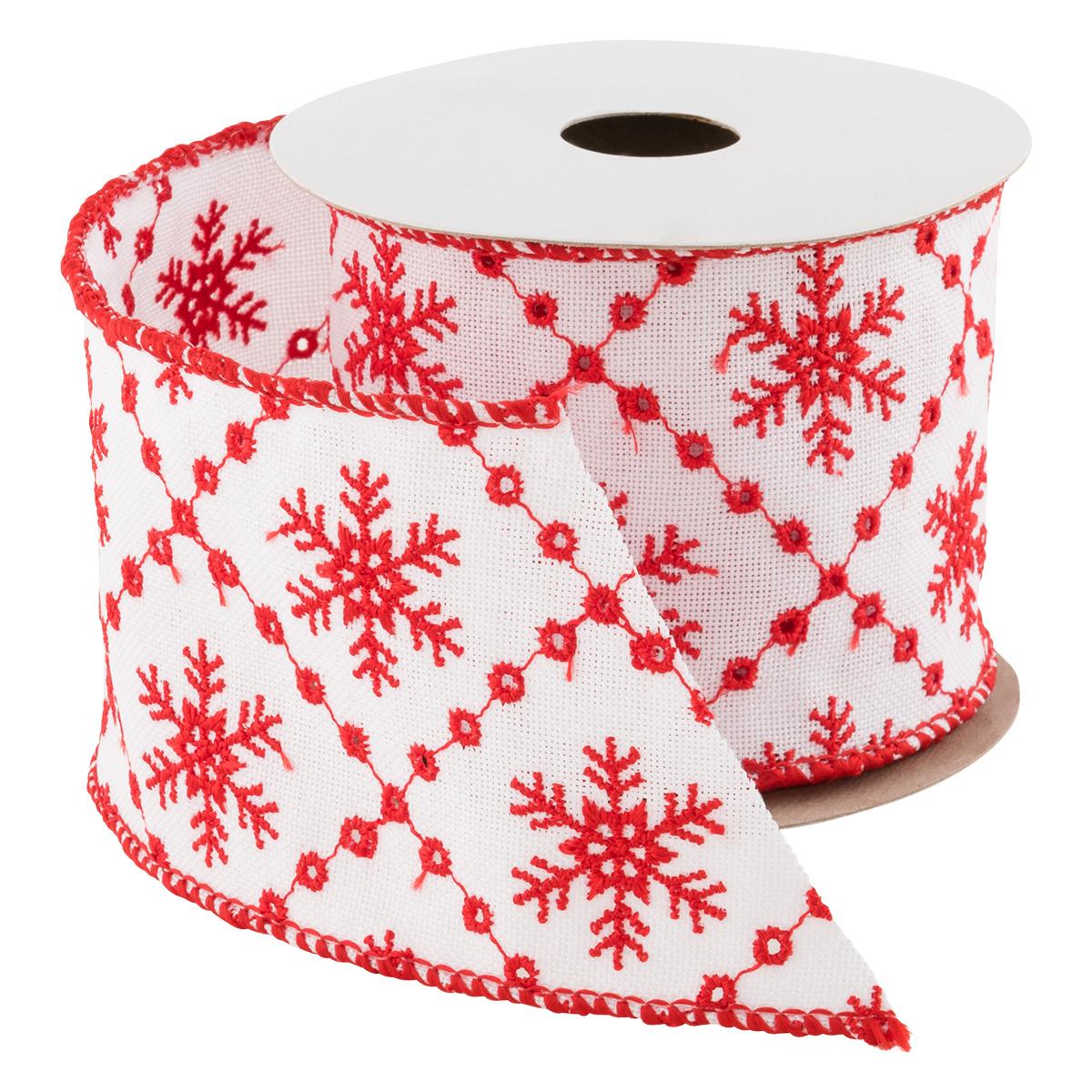 Wired Ribbon Eyelet Snowflake