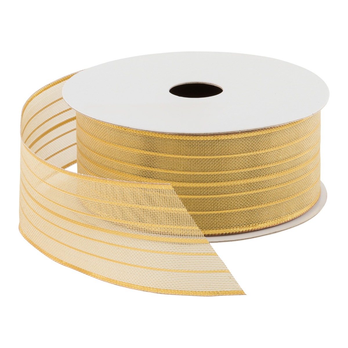 Mesh Stripe Wired Ribbon