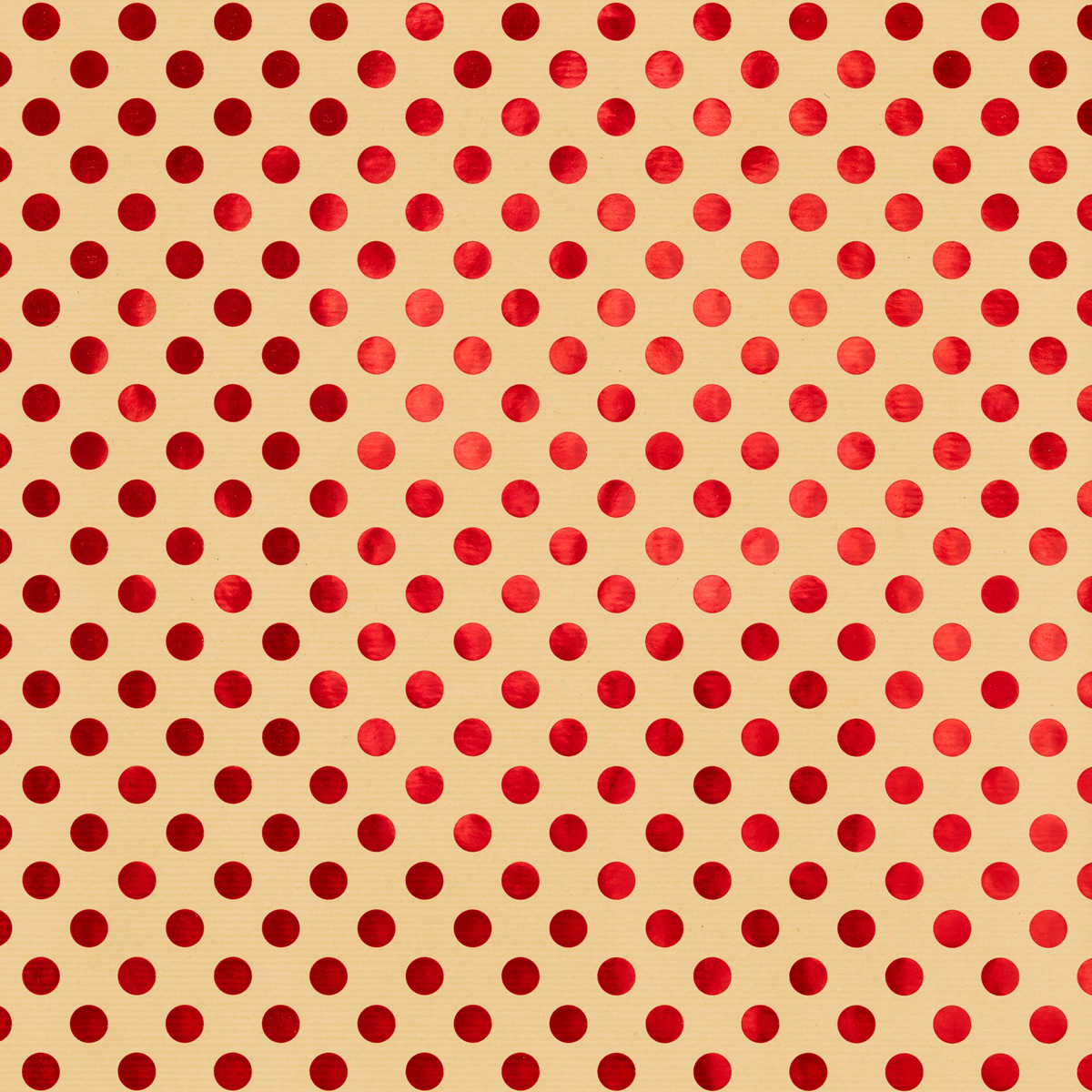 Wrap Foil Dots Red on Kraft