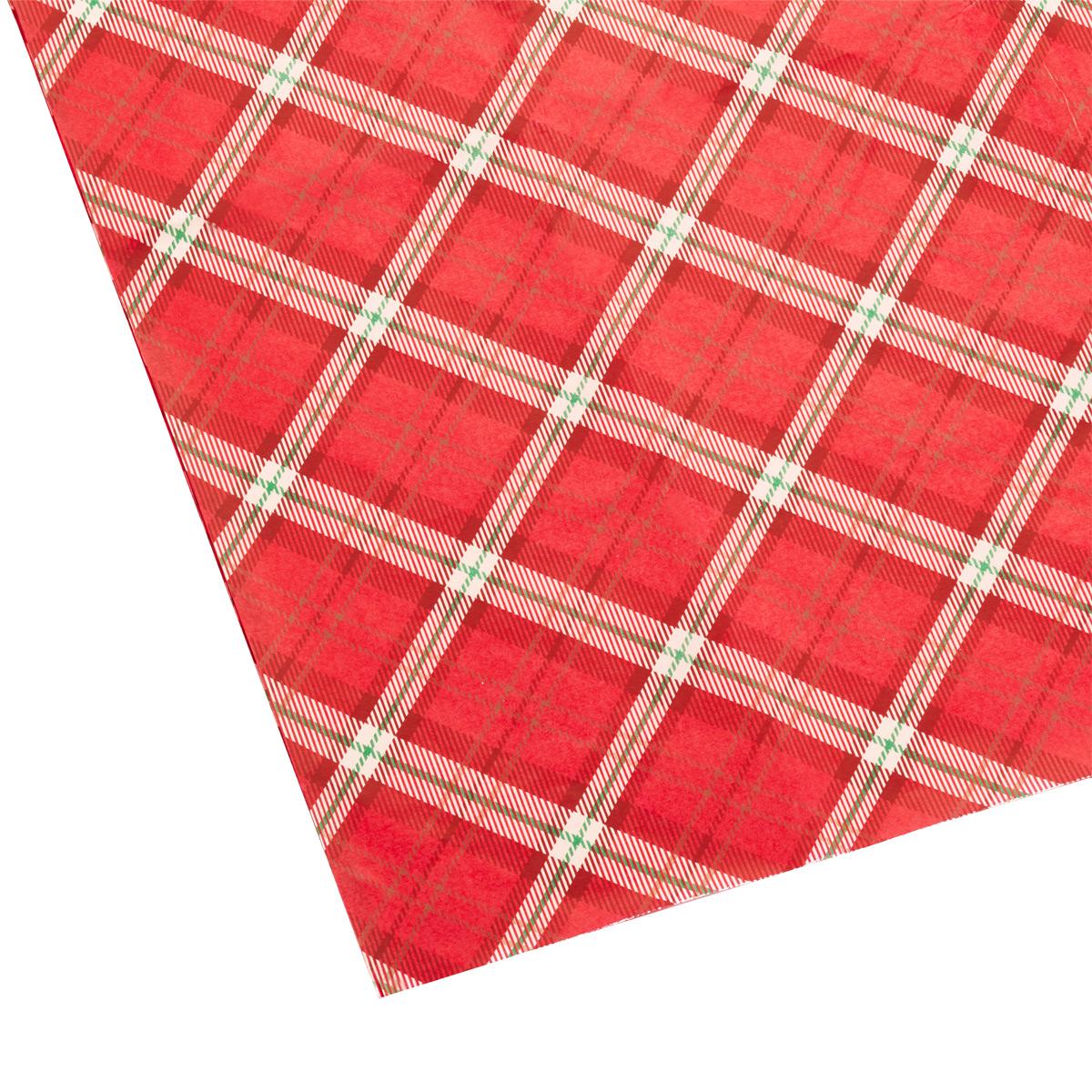 Tissue Sheets Large Plaid