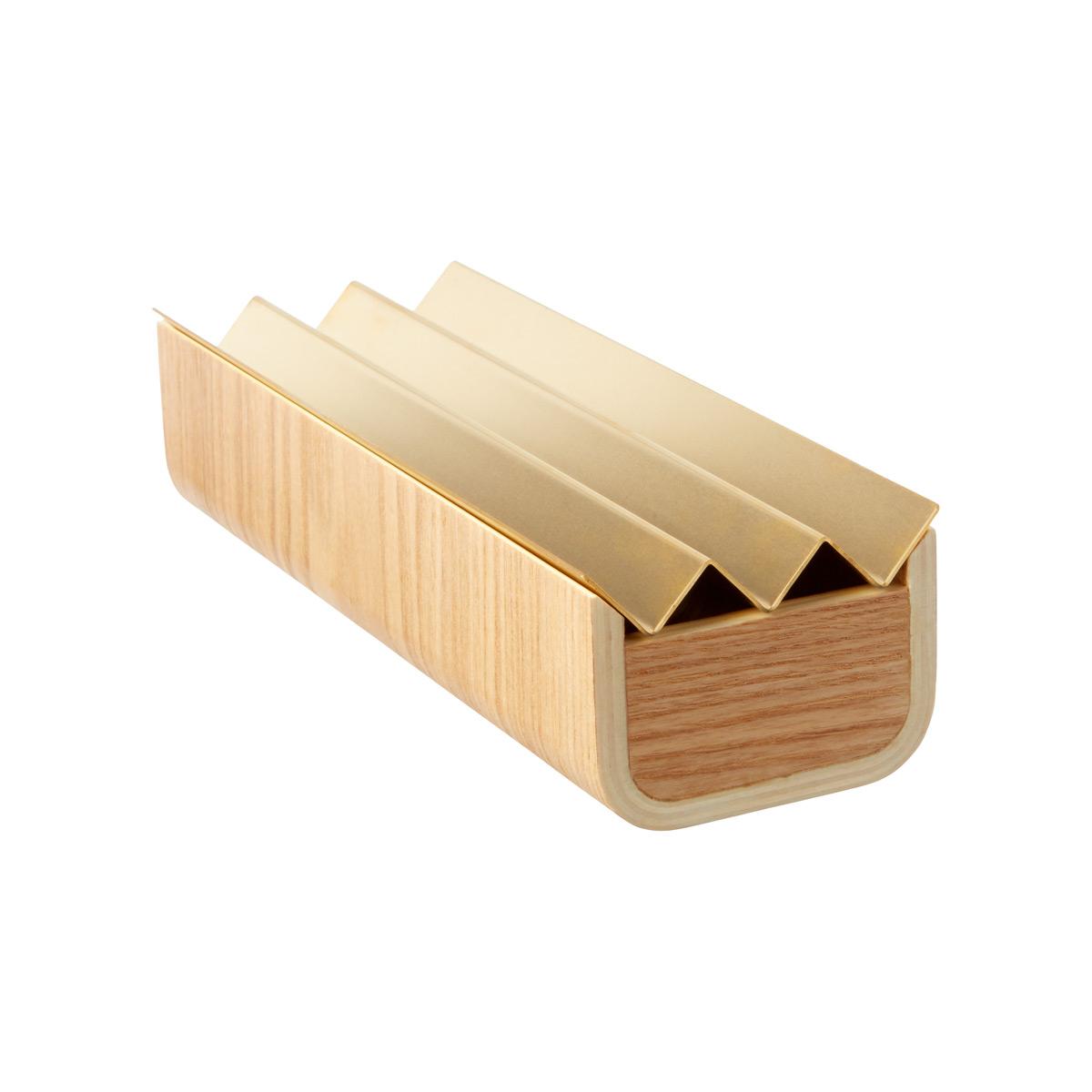 Tulip Wooden Box w/ Brass Lid