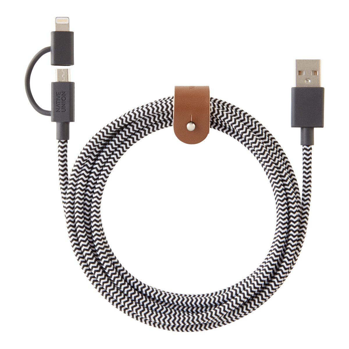 Lightning Micro USB Belt Cable