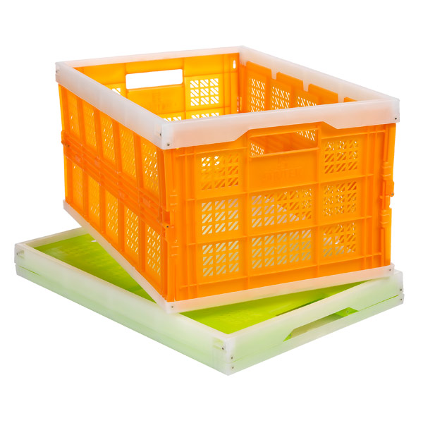 The Container Store > Bright Folding Crate :  home home accents home decor neon