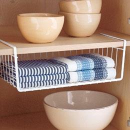 Under Cabinet Storage Bins Under Shelf Storage Organizer Basket Source ·  Tips On Organizing Linen Closets Under Shelf Basket