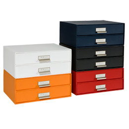 Bigso Marten Green Paper Drawers   The Container Store