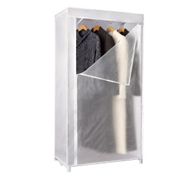 The Container Store Enclosed Hanging Basic Clothes Closet