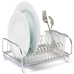 compact stainless steel dish drainer 25