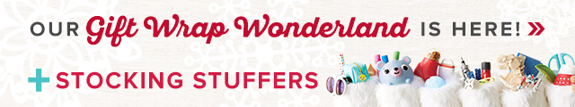 Our Gift Wrap Wonderland is here + our stocking stuffers