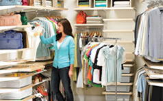 Place your personal items back into your closet transformed with elfa!