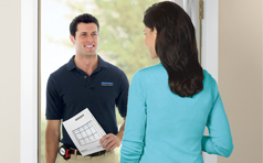 Our professional installers will visit your home at a time convenient for your schedule.
