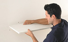 We will remove existing shelving and closet rods, then patch, sand and touch up your walls.