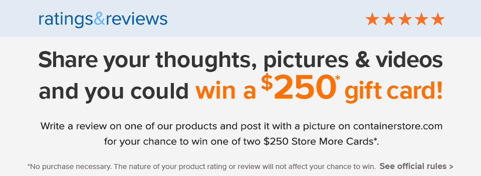 Ratings & Reviews Sweepstakes