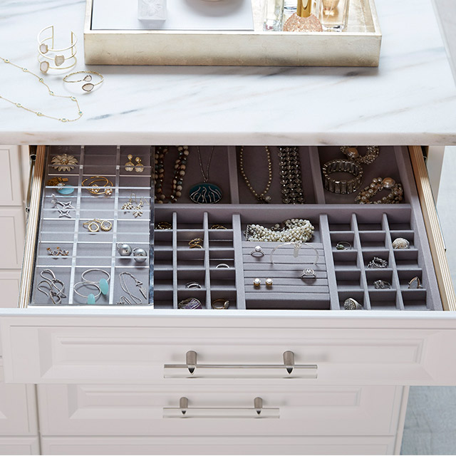 custom closet jewelry drawer organizer