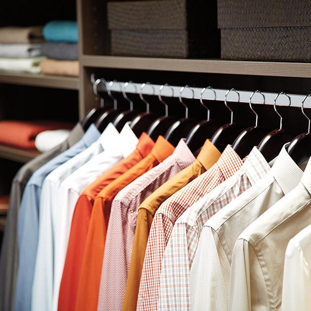 custom closet clothes storage