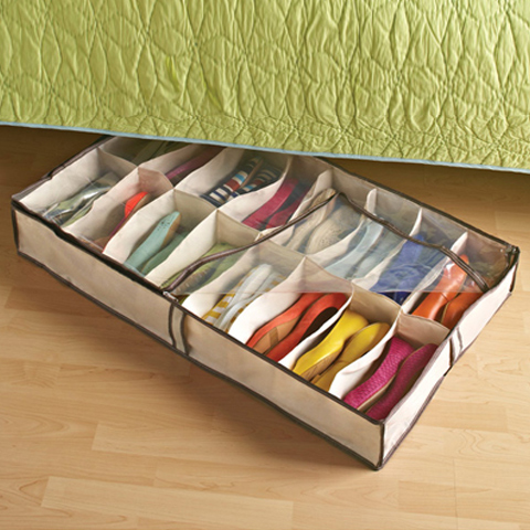 Shoe racks and shoe hacks for college spaces ideas - Dorm underbed storage ideas ...