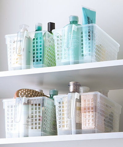 Tip maximize bathroom space the container store - Maximize space in small bathroom ...