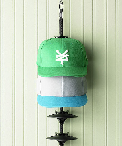 Tip men 39 s accessory storage the container store for Best way to organize baseball hats