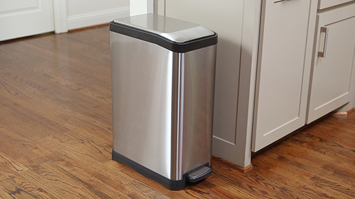 12 gal. Rectangle Step Can High-Gauge Stainless Steel