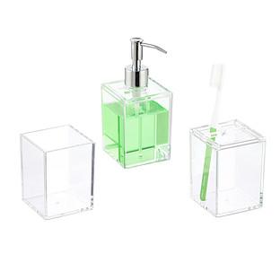 Clear Acrylic Countertop Bathroom Set, Clear Bathroom Accessories