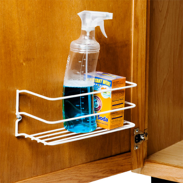 kitchen cabinet door organizers cleanser rack the container 5297