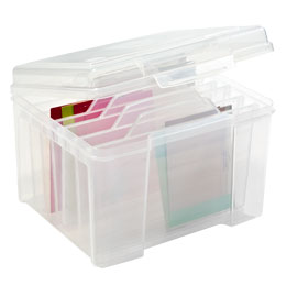 Greeting card storage the container store greeting card storage iris clear card keeper m4hsunfo