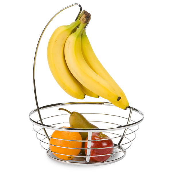 iDesign Chrome Banana Holder & Bowl