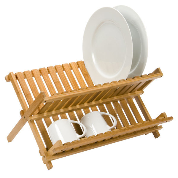 sc 1 st  The Container Store & Dish Rack - Folding Bamboo Dish Rack   The Container Store