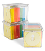 120disc rainbow acrylic storage box