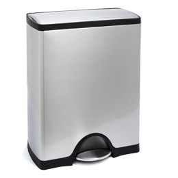 simplehuman Stainless Steel 13 gal. Rectangular Step Trash Can