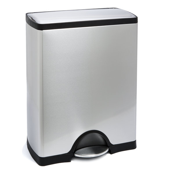 13 gallon simplehuman stainless steel rectangular step trash can the container store. Black Bedroom Furniture Sets. Home Design Ideas