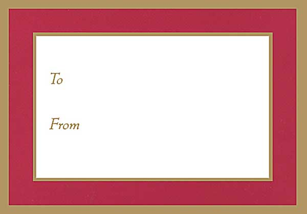 Self-Adhesive Gift Labels Red Pkg/5