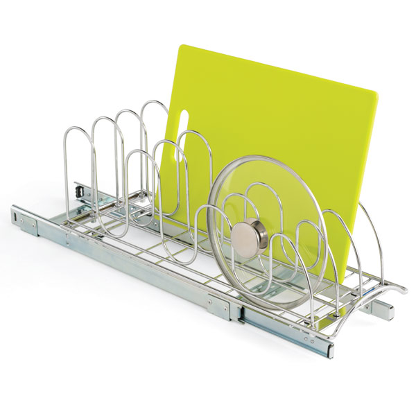Roll-Out Lid Holder Chrome