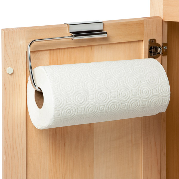 over the cabinet paper towel holder interdesign stainless steel the cabinet paper towel 24190