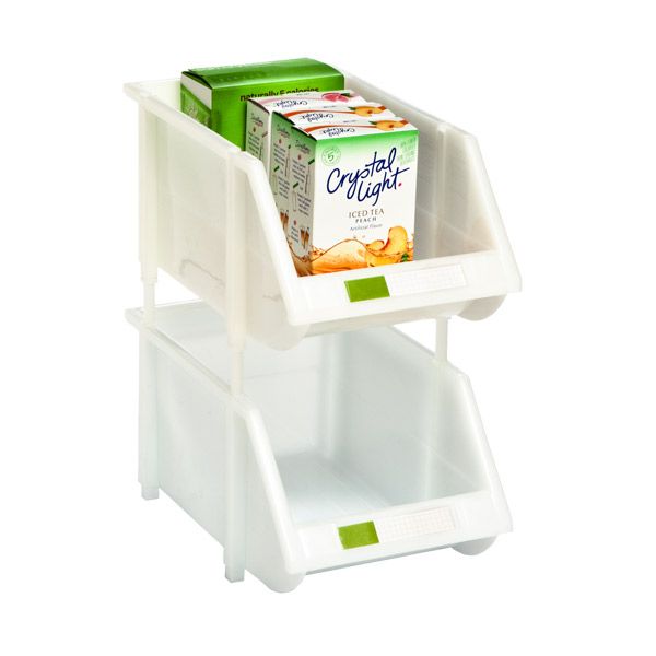 Medium Stacking Bin White